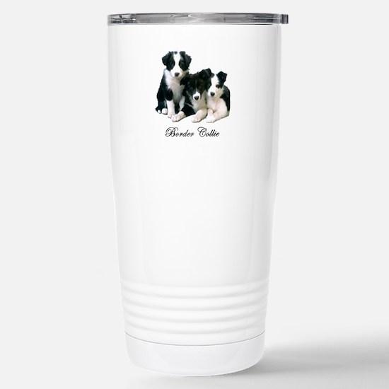 Border Collie Puppies Stainless Steel Travel Mug