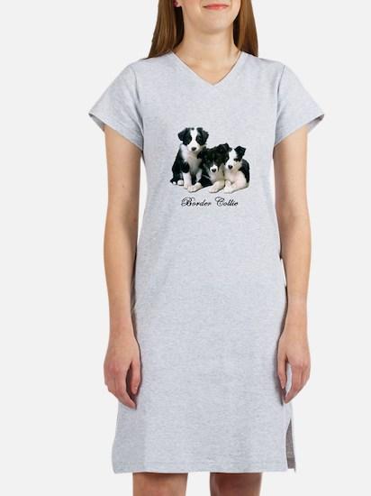 Border Collie Puppies Women's Nightshirt