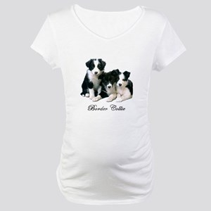 Border Collie Puppies Maternity T-Shirt