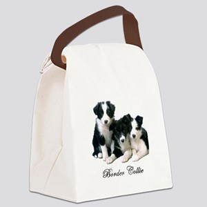 Border Collie Puppies Canvas Lunch Bag