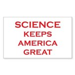 Science Keeps America Gr Sticker (Rectangle 10 pk)