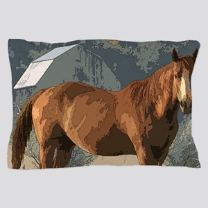 Horse in country scene Pillow Case