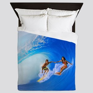 SURFING OAHU Queen Duvet
