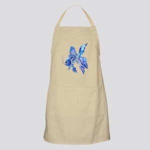 Blue Watercolor Goldfish Light Apron