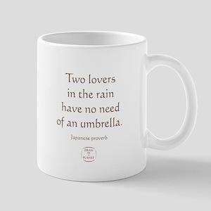 TWO LOVERS IN THE RAIN Mug