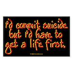 suicide.rect.sticker Sticker (Rectangle 10 pk)