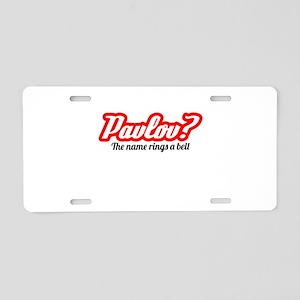 Pavlov? Aluminum License Plate