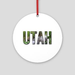 Utah Souveniers Ornament (Round)