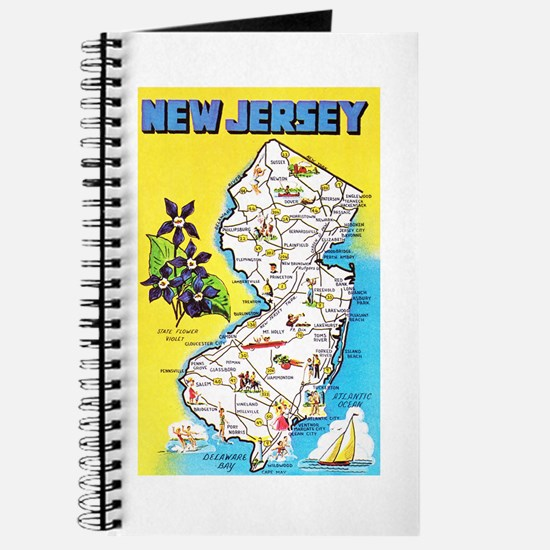 New Jersey Map Greetings Journal