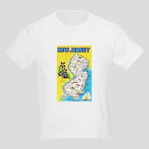 New Jersey Map Greetings Kids Light T-Shirt