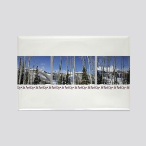 Park City on top of Deer Vall Rectangle Magnet