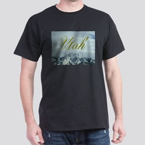 Utah Mountains - Apparel Black T-Shirt