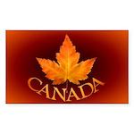 Canada Souvenir Red Gold Sticker (Rectangle 10 pk)