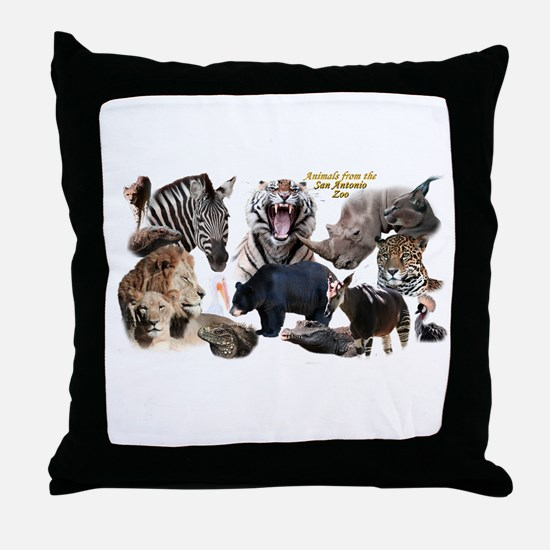 SA Zoo Throw Pillow
