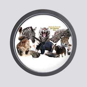 SA Zoo Wall Clock
