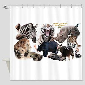 SA Zoo Shower Curtain
