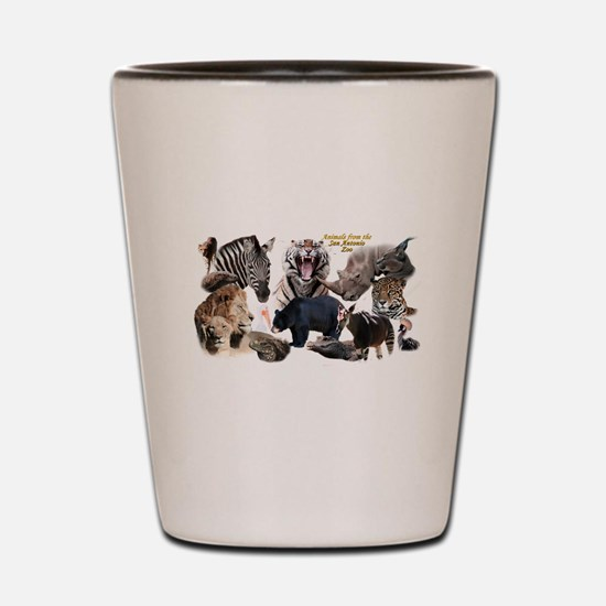 SA Zoo Shot Glass