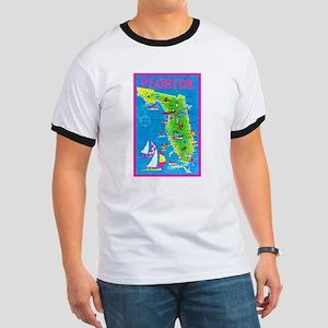 Florida Map Greetings Ringer T