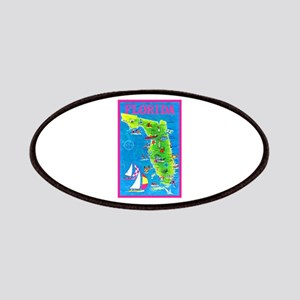 Florida Map Greetings Patches
