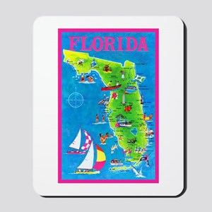 Florida Map Greetings Mousepad