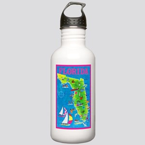 Florida Map Greetings Stainless Water Bottle 1.0L