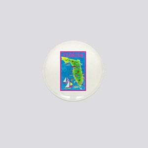 Florida Map Greetings Mini Button