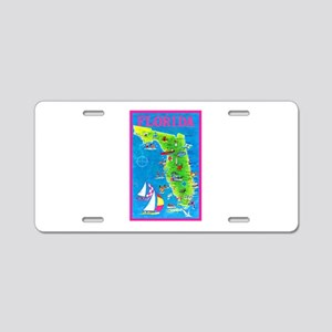 Florida Map Greetings Aluminum License Plate