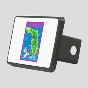Florida Map Greetings Rectangular Hitch Cover