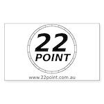22 Point logo Sticker (Rectangle 10 pk)