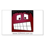 RapiTap Grumpy Sticker (Rectangle 10 pk)