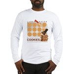 Lumbersnacks Cookie Long Sleeve T (white or grey)