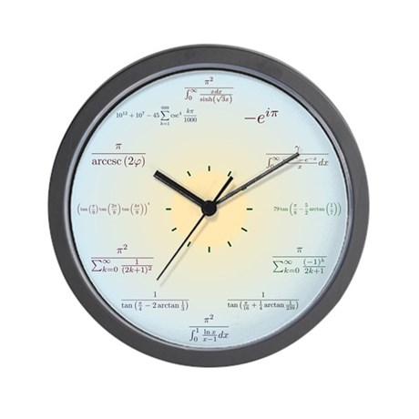 Math Wall Clock (blue gradient)