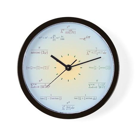 Math Wall Clock (blue gradient)