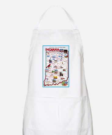 Indiana Map Greetings Apron