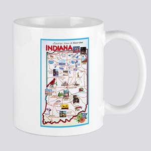 Indiana Map Greetings Mug