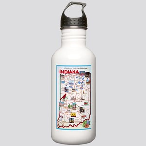 Indiana Map Greetings Stainless Water Bottle 1.0L