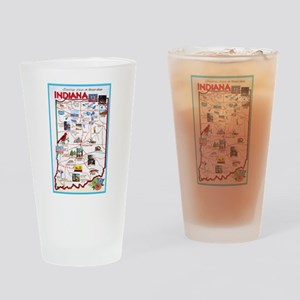 Indiana Map Greetings Drinking Glass