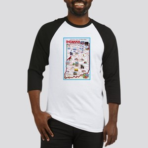 Indiana Map Greetings Baseball Jersey