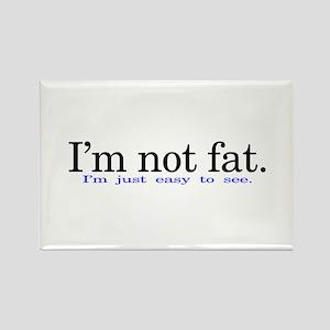 Im not fat Rectangle Magnet