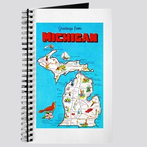 Michigan Map Greetings Journal