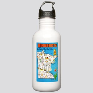 Minnesota Map Greetings Stainless Water Bottle 1.0