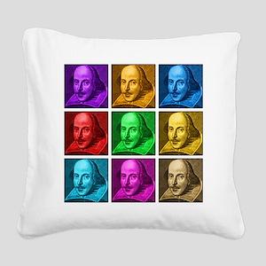 Shakespeare Pop Art Square Canvas Pillow