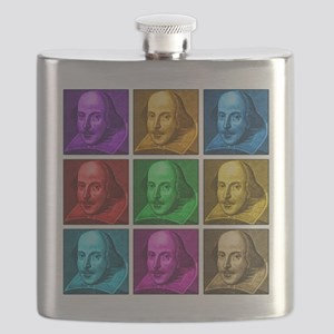 Shakespeare Pop Art Flask