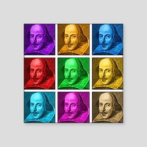 "Shakespeare Pop Art Square Sticker 3"" x 3"""