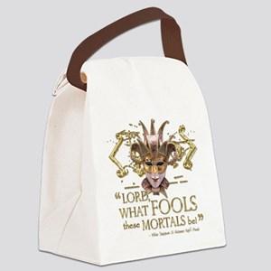 Shakespeare Fools Quote Canvas Lunch Bag