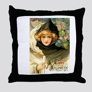 Robed Witch Throw Pillow
