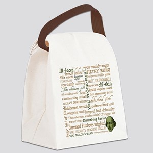 Shakespeare Insults Canvas Lunch Bag