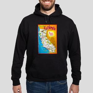 California Map Greetings Hoodie (dark)