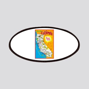 California Map Greetings Patches