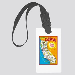 California Map Greetings Large Luggage Tag